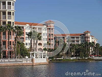 Vacation Resort Buildings & Lake 1