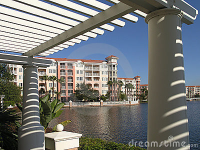 Vacation Resort Buildings Trellis & Lake 2