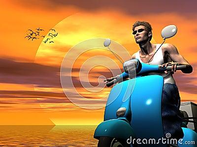 Vacation rider.