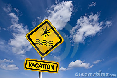 Vacation sign