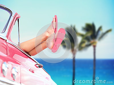 Vacation travel freedom beach concept