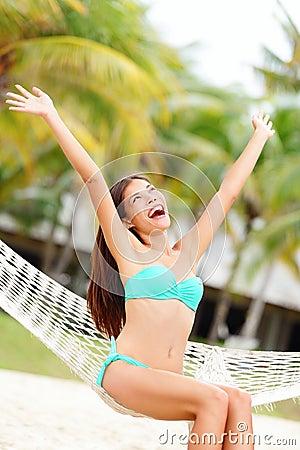Vacation woman on beach