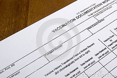 vaccination documentation worksheet stock photo image 53702360. Black Bedroom Furniture Sets. Home Design Ideas