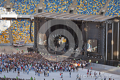The Vaccines rock band performance in Kiev Editorial Stock Image