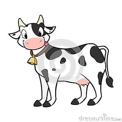 Vache dessin anim illustration de vecteur image 48606238 - Vache en dessin ...