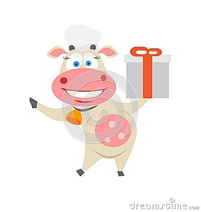 Vache à cadeau