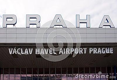 Vaclav Havel Airport Prague Editorial Stock Photo