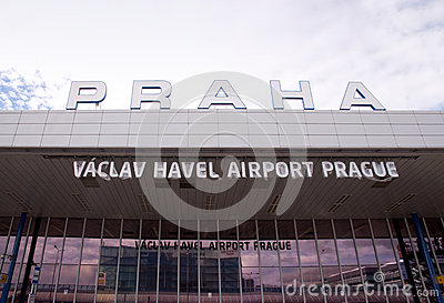 Vaclav Havel Airport Prague Editorial Photography