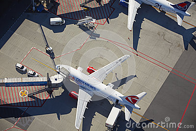 Vaclav Havel Prague Airport Editorial Photography