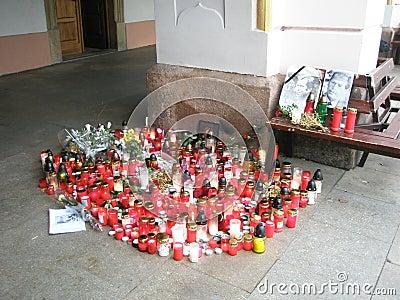 Vaclav Havel´s tribute in Trutnov Editorial Photo
