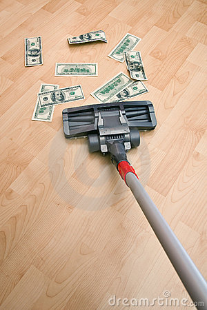 Vacuum cleaner and money