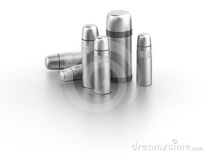 Vacuum Flask (thermos) Stock Image - Image: 24597051