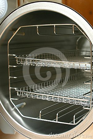 Vacuum sterilisator (autoclave) round chamber