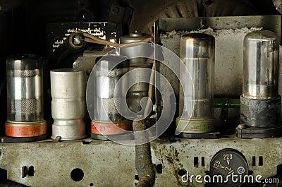 Vacuum Tubes Inside Old Radio