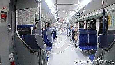 Vagón desde adentro durante metrajes