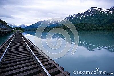 Vagt Lake Alaska Outback Railroad Tracks Bridge
