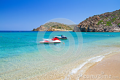 Vai beach with blue lagoon on Crete