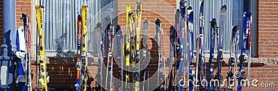 在Vail的滑雪 编辑类图片