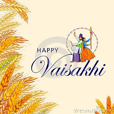 Happy Vaisakhi Stock Photo