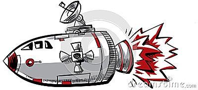 Vaisseau spatial de dessin anim images stock image 22883744 - Dessin vaisseau spatial ...