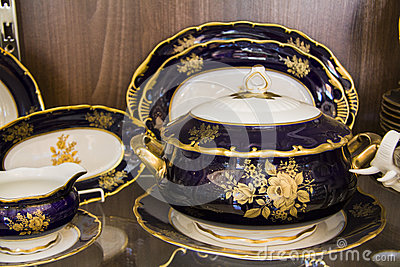 vaisselle de luxe photo stock image 46216220. Black Bedroom Furniture Sets. Home Design Ideas