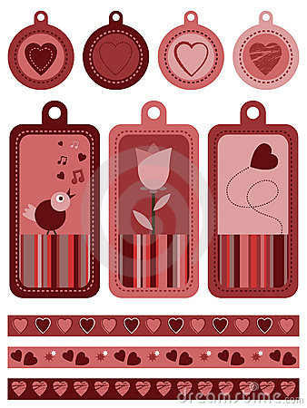 Free Valantine Tags And Borders Royalty Free Stock Image - 7836056