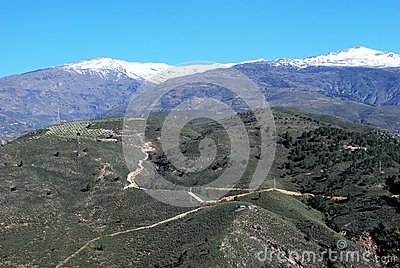 Vale of Lecrin, Las Alpujarras, Andalusia, Spain.