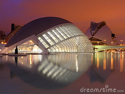 Valencia : City of arts Editorial Stock Image
