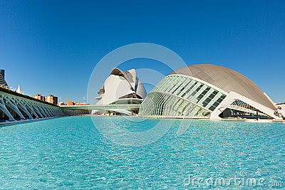 Valencia City of Arts and Sciences Editorial Stock Photo