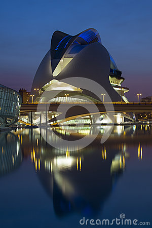 Valencia - City of Arts & Sciences - Spain Editorial Photography