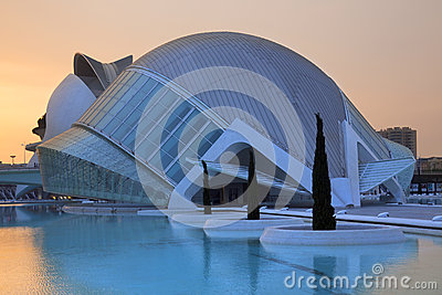 Valencia - City of Arts & Sciences - Spain Editorial Stock Photo