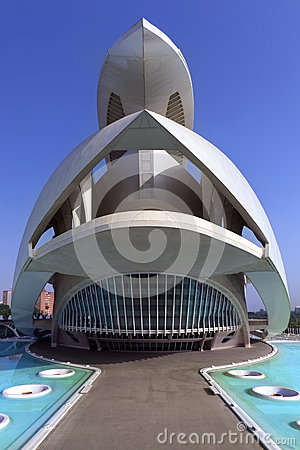 Valencia - City of Arts & Sciences - Spain Editorial Photo