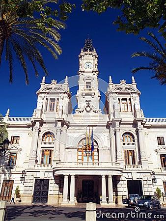 Free Valencia City Hall Royalty Free Stock Image - 27195566
