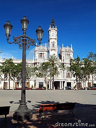 Free Valencia City Hall Stock Photo - 27195580