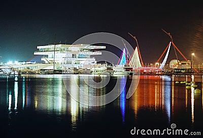 Valencia Port, America s Cup sedate Editorial Stock Image