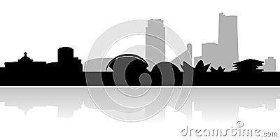 Valencia skyline and landmarks