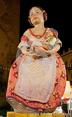 Valencia in Fallas Editorial Image
