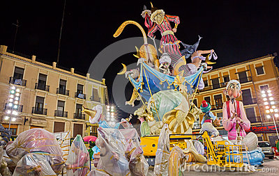 Valencia in Fallas Editorial Stock Photo