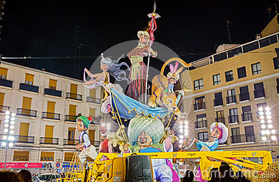 Valencia in Fallas Editorial Stock Image