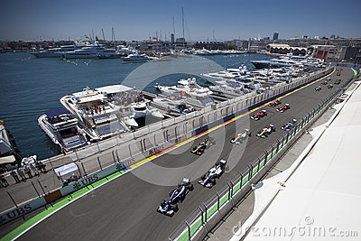 Valencia Street Circuit 2012 Editorial Stock Image