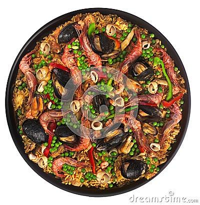Free Valencian Seafood Paella Stock Photo - 2367670
