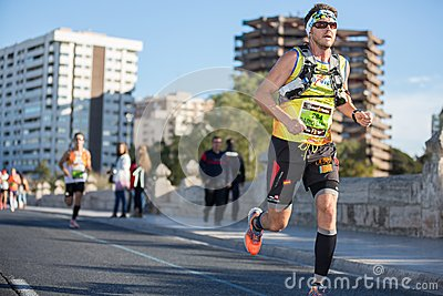 Valencias Marathon Editorial Stock Photo