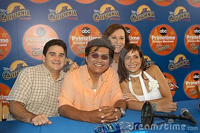 Valente Rodriguez, George Lopez, Belita Moreno, Constance Marie Editorial Stock Photo