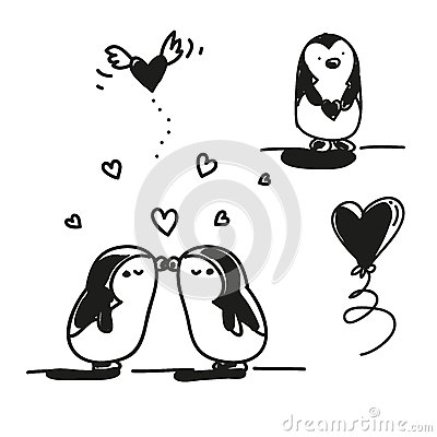 Valentim dos pinguins