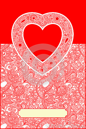 Valentin Day card with heart