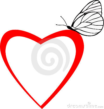 Valentin s butterfly heart frame