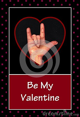 Valentine in American Sign Language
