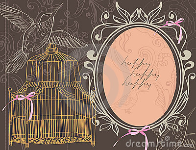 Valentine background with cage