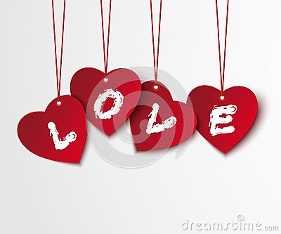 Valentine background with hearts and love