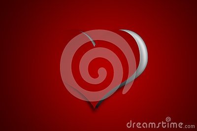 Valentine background - paper cut-out heart